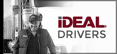 Ideal logistics driver and truck